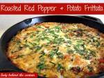 Roasted Red Pepper and Potato Frittata