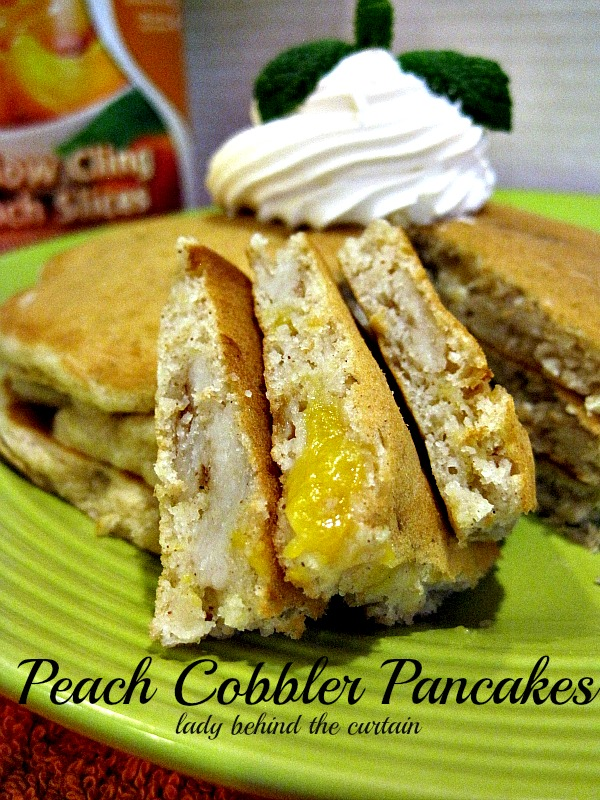 Lady Behind The Curtain - Peach Cobbler Pancakes