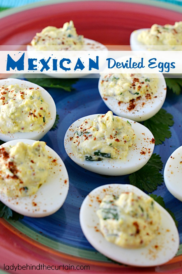 Mexican Deviled Eggs - Lady Behind The Curtain