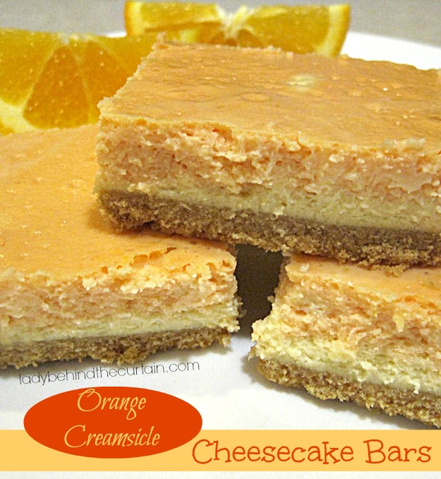 These Orange Creamsicle Cheesecake Bars are just as refreshing as they ...