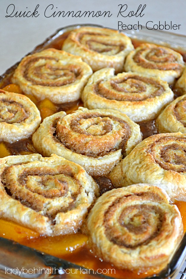 Quick-Cinnamon-Roll-Peach-Cobbler-Lady-Behind-The-Curtain-5