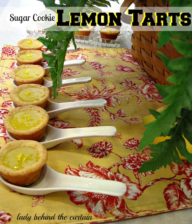 Sugar Cookie Lemon Tarts - Lady Behind The Curtain