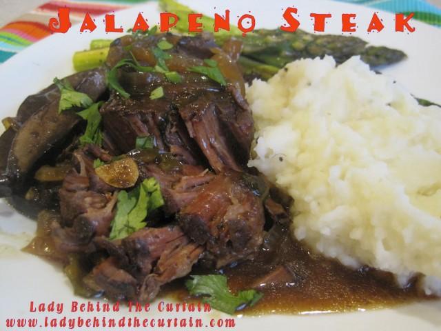 jalapeno steak n' mushrooms