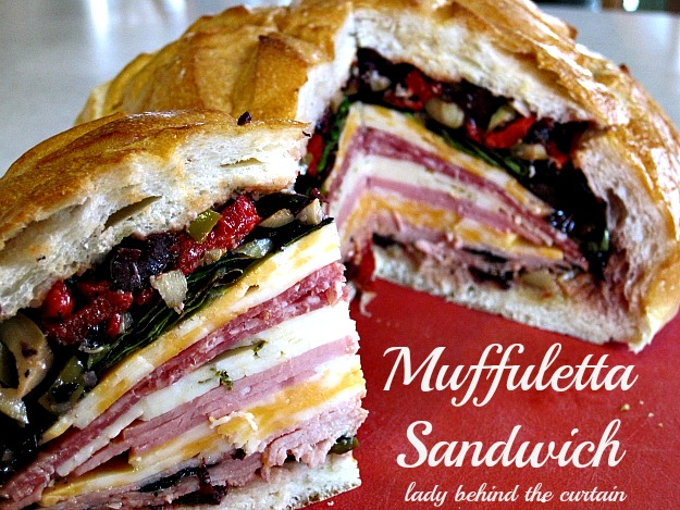 ... Muffuletta Sandwich is the PERFECT sandwich for game day or a picnic