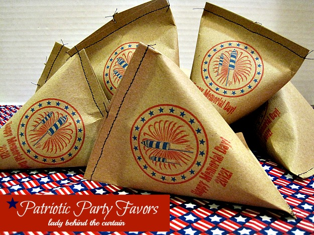 Patriotic Party Favors - Lady Behind the Curtain