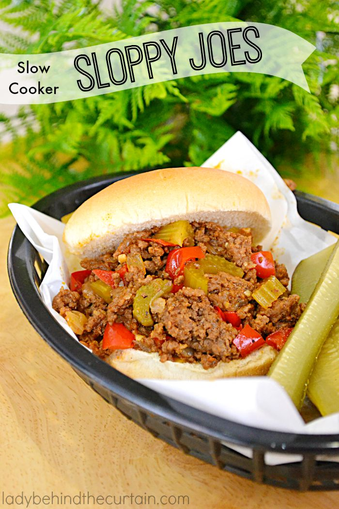 Slow Cooker - Sloppy Joes:  Like the hot dog the Sloppy Joe is open to all kinds of variations and toppings.