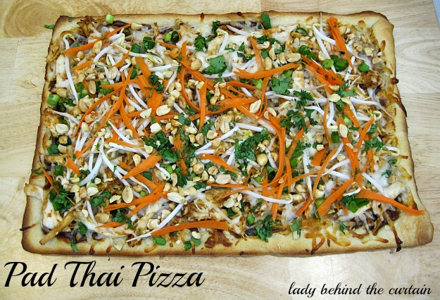 Lady Behind The Curtain - Pad Thai Pizza