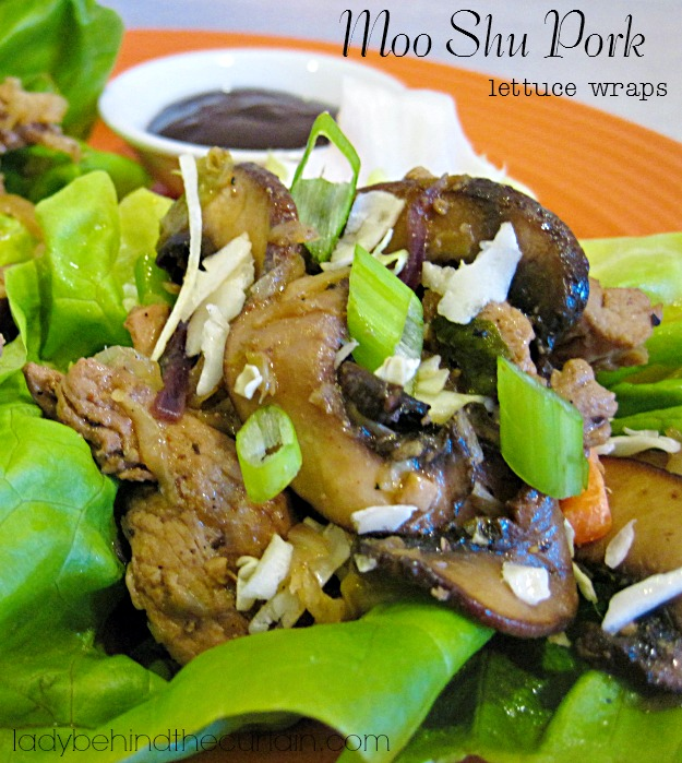 Moo Shu Pork Lettuce Wraps - Lady Behind The Curtain