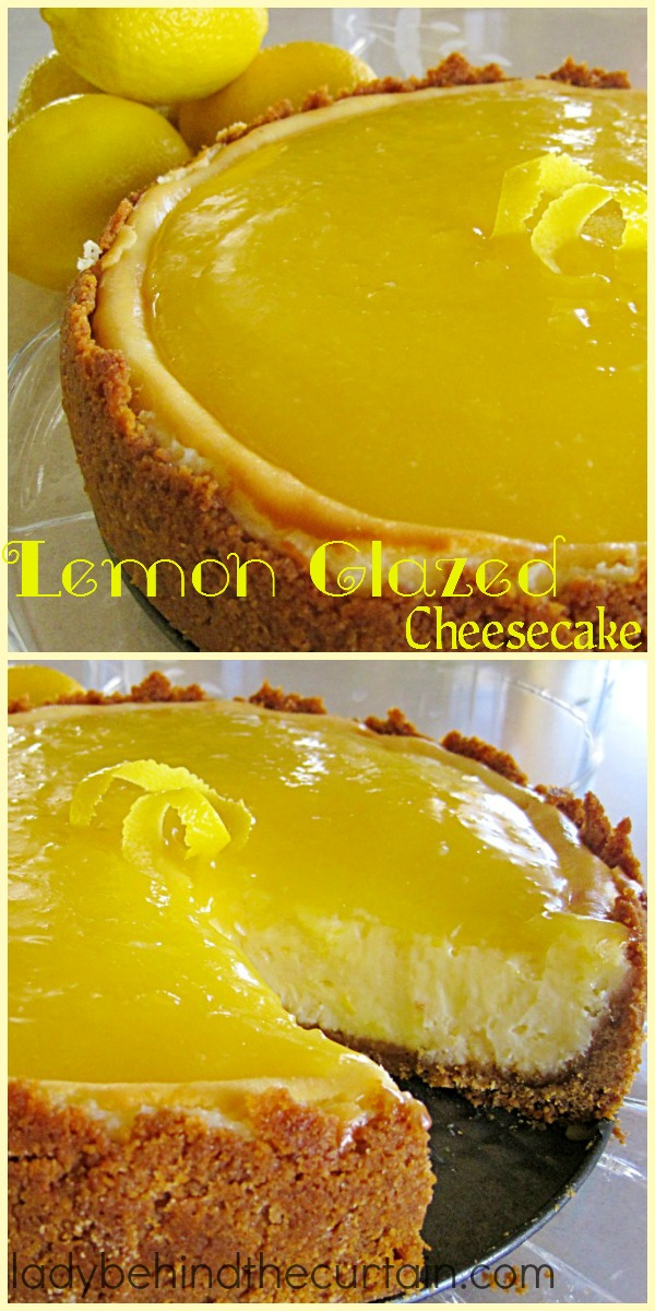 The rich filling and golden glaze of thei Lemon Glazed Cheesecake will tempt your taste buds!
