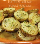 Lemony Leftover Baked Potatoes