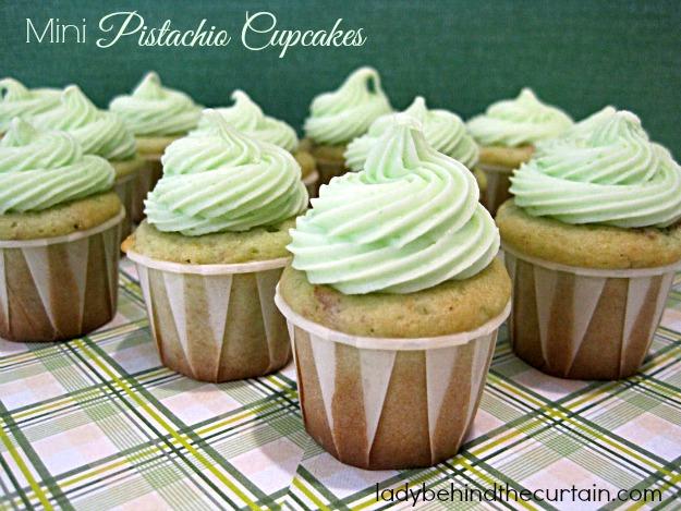 Mini Pistachio Cupcakes