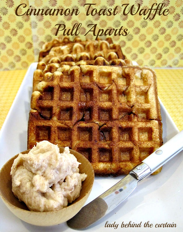Cinnamon Toast Waffle Pull Aparts - Lady Behind The Curtain