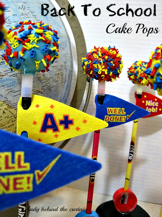 Lady Behind The Curtain - Back To School Cake Pops