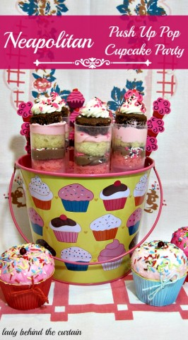 Lady Behind The Curtain - Neapolitan Push Up Pop Cupcake Party
