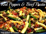 Red Pepper and Beef Pasta