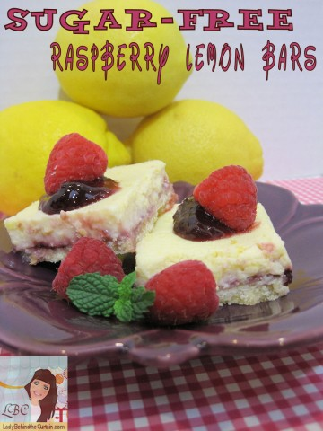 Lady Behind The Curtain - Sugar Free Raspberry Lemon Bars