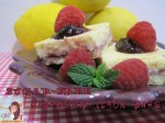 Sugar-Free Lemon Raspberry Bars