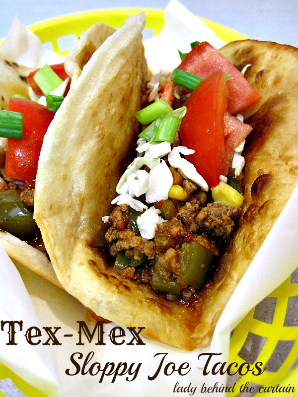Lady Behind The Curtain - Tex-Mex Sloppy Joe Tacos