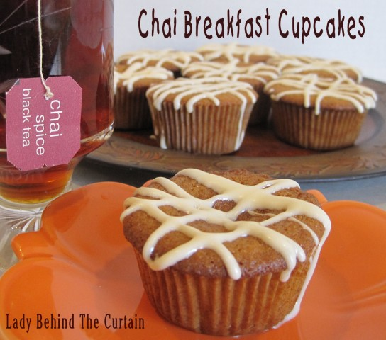 Lady Behind The Curtain - Chai Breakfast Cupcakes