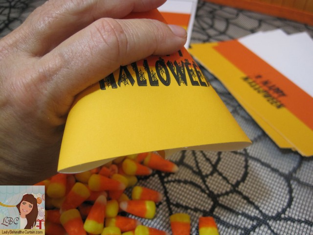 Lady Behind The Curtain -DIY Candy Corn Party Favor
