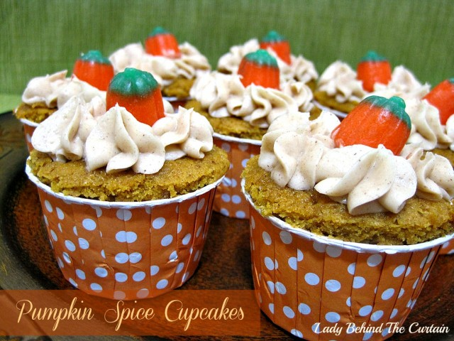 Lady Behind The Curtain - Pumpkin Spice Cupcakes