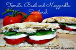 Tomato, Basil and Mozzarella Sandwich