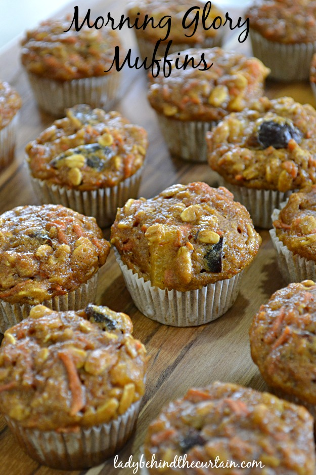 Morning Glory Muffins - Lady Behind The Curtain