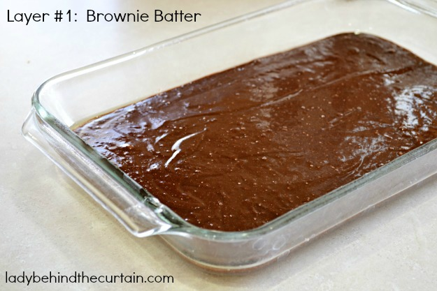 Peanut Butter Cheesecake Brownies - Lady Behind The Curtain