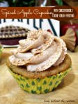 Spiced Apple Cupcakes with Snickerdoodle Cookie Dough Frosting