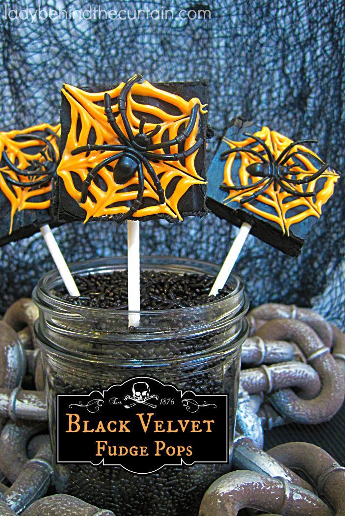 Black Velvet Halloween Fudge Pops