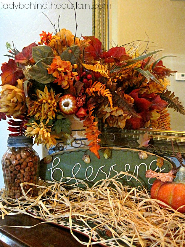 fall buffet table decorations