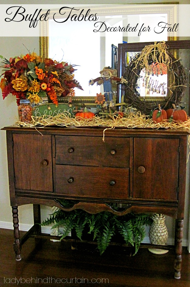 Buffet Tables   Decorated For Fall   Lady Behind The Curtain