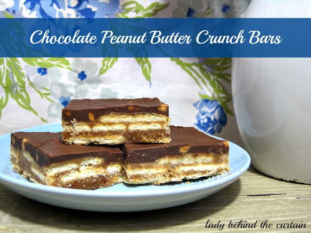 Lady Behind The Curtain - Chocolate Peanut Butter Crunch Bars