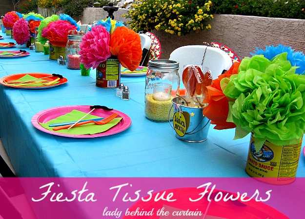 Lady Behind The Curtain - Fiesta Tissue Flowers