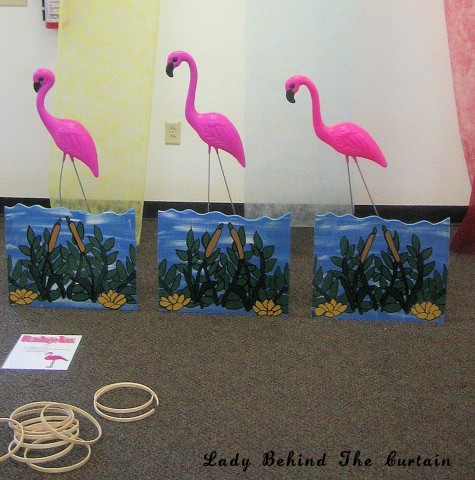 Lady Behind The Curtain - Flamingo Toss Game (all ages)