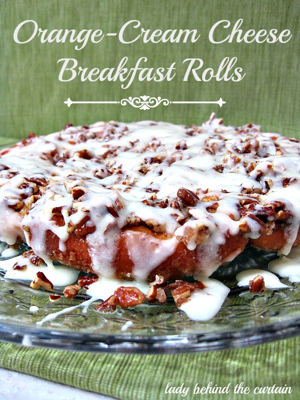Lady Behind The Curtain - Orange-Cream Cheese Breakfast Rolls