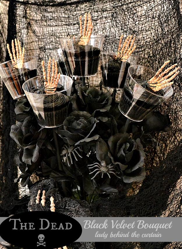 The Dead Black Velvet Bouquet - Lady Behind The Curtain