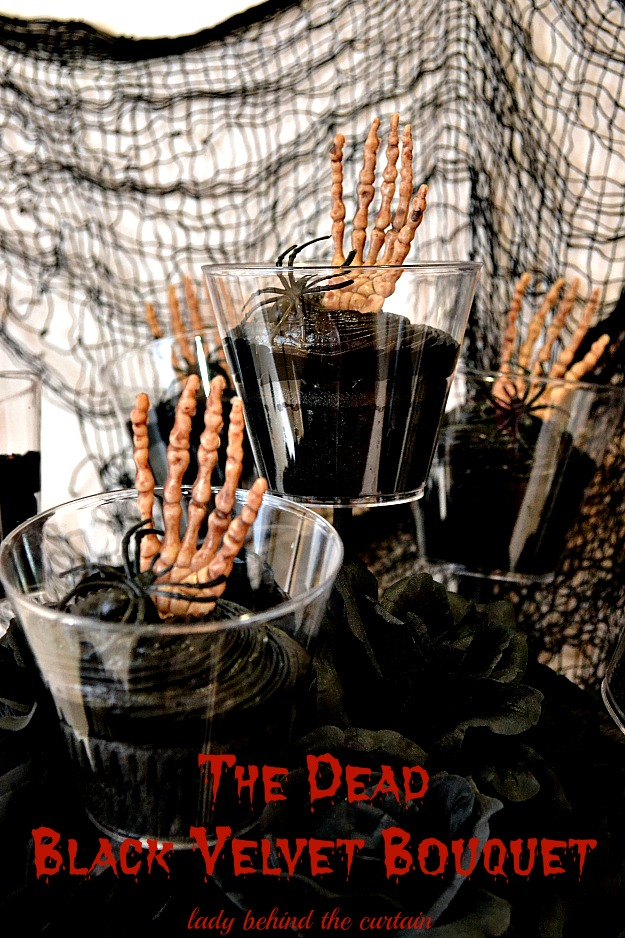 Halloween Black Velvet Bouquet
