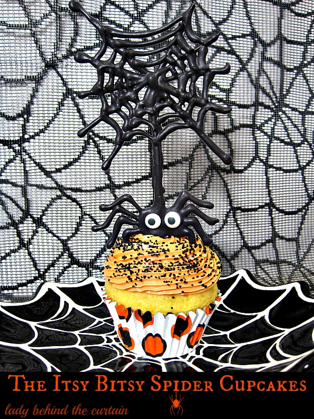 The Itsy Bitsy Spider Cupcakes - Lady Behind The Curtain