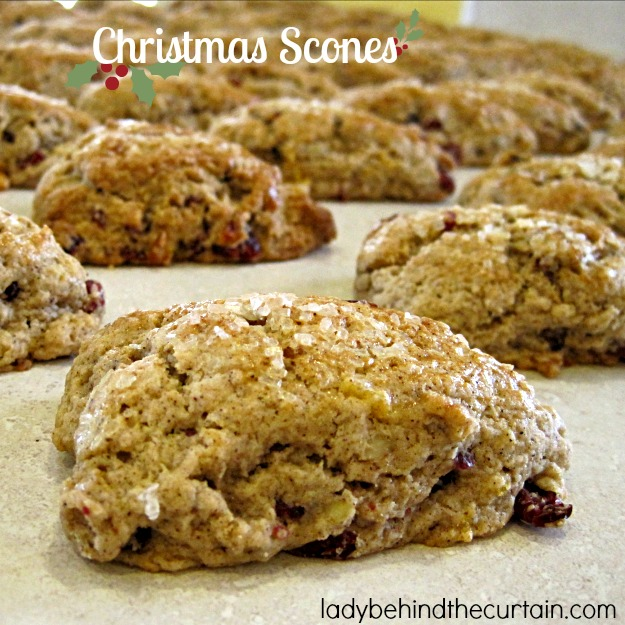 Christmas Scones - Lady Behind The Curtain