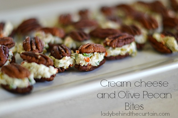 Cream Cheese and Olive Pecan Bites