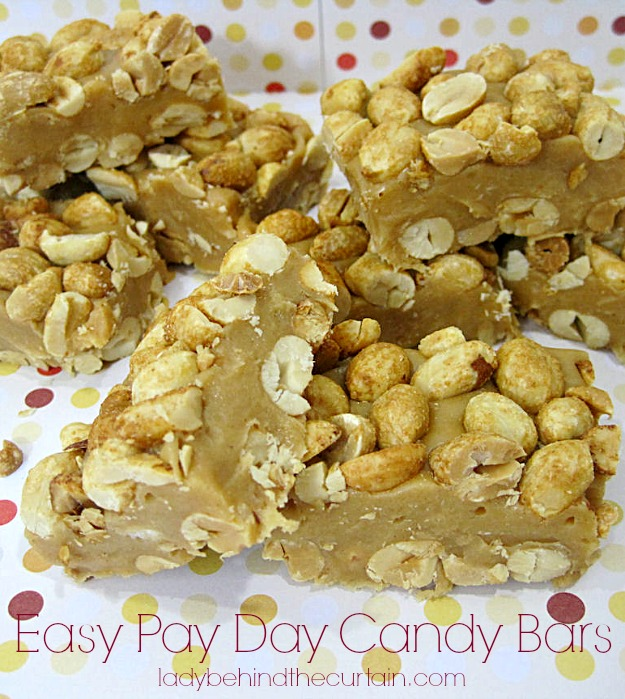 Easy Pay Day Candy Bars - Lady Behind The Curtain