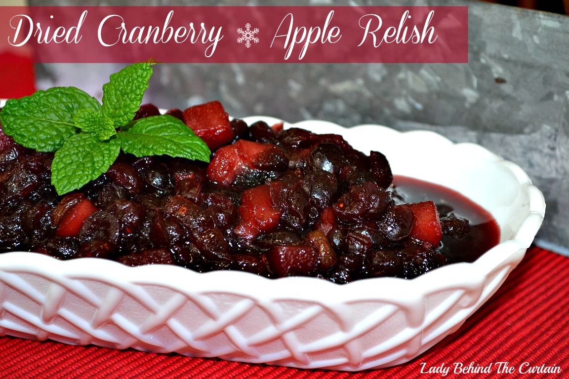 Dried Cranberry – Apple Relish
