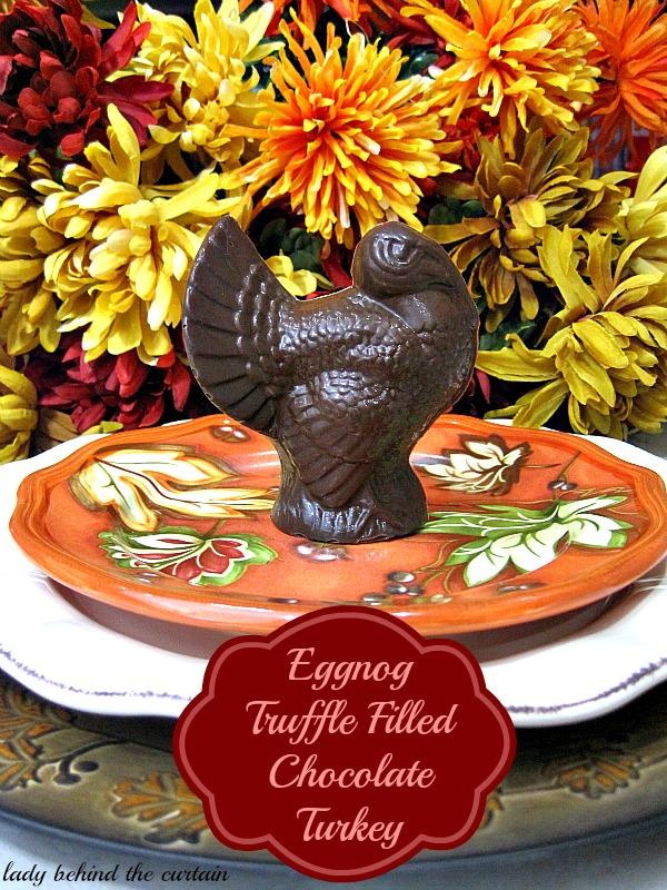 Lady Behind The Curtain - Eggnog Truffle Filled Chocolate Turkey