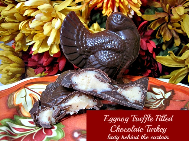 Lady Behind The Curtain - Eggnog Truffle Filled Chocolate Turkey
