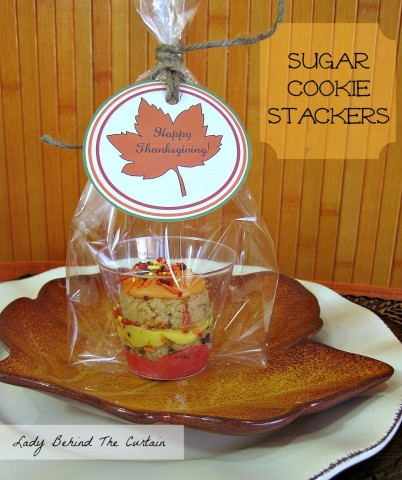 Lady Behind The Curtain - Kids Thanksgiving Table Sugar Cookie Stackers