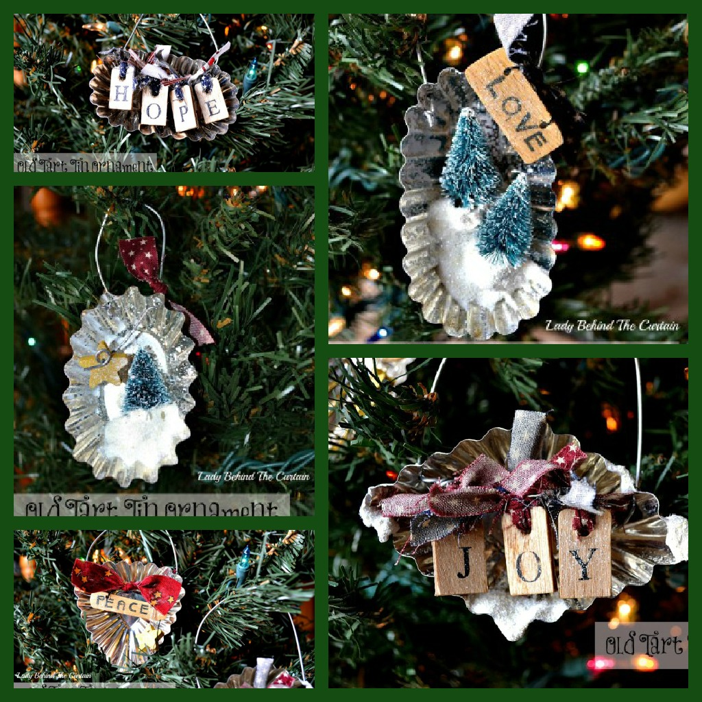 Old tart tin ornaments