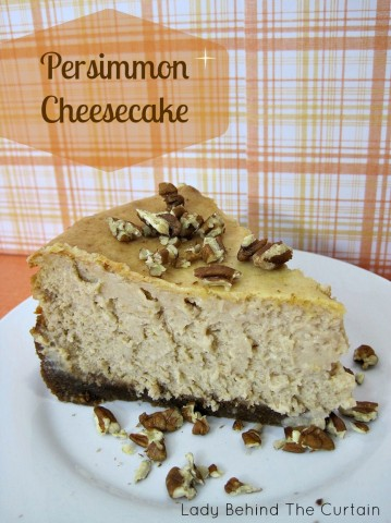 Lady Behind The Curtain - Persimmon Cheesecake