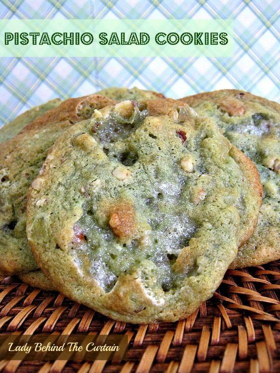 Lady Behind The Curtain - Pistachio Salad Cookies