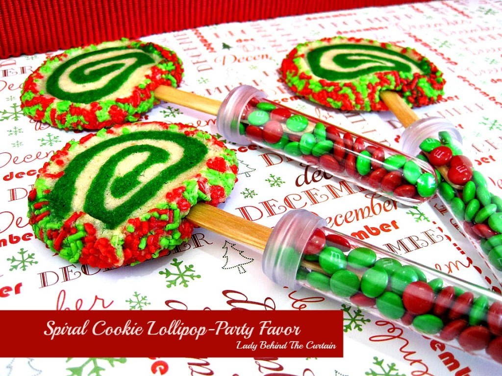 Lady Behind The Curtain - Spiral Cookie Lollipop-Party Favor